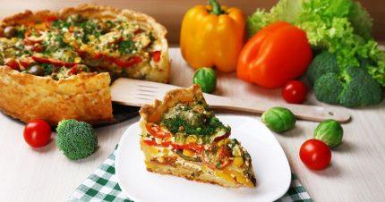 Деревенский пирог с овощами